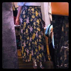 Loft spring pleated skirt